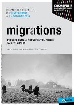 Affiche du festival migrations de la ville de Nantes